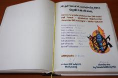 Prijatie družstva žien u starostky obce - reprezentantiek Majstrovstiev SR DHZ 2013