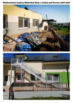 """Rekonštrukcia materskej školy 2018-2019 """"pred a po"""""""